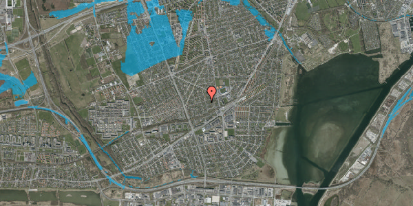 Oversvømmelsesrisiko fra vandløb på Aktæons Alle 17, 2650 Hvidovre