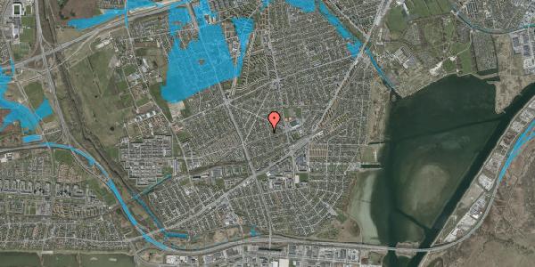 Oversvømmelsesrisiko fra vandløb på Aktæons Alle 18, 2650 Hvidovre