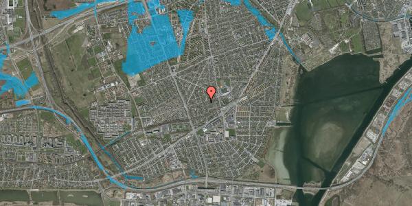 Oversvømmelsesrisiko fra vandløb på Aktæons Alle 24, 2650 Hvidovre
