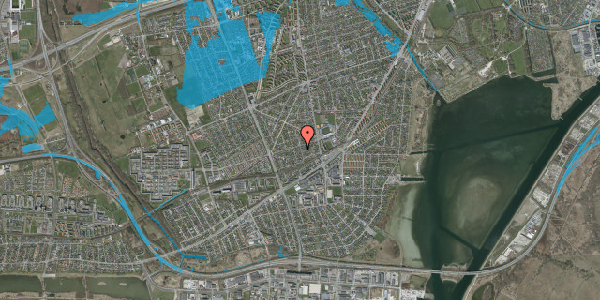 Oversvømmelsesrisiko fra vandløb på Aktæons Alle 26, 2650 Hvidovre
