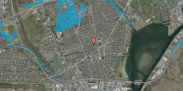 Oversvømmelsesrisiko fra vandløb på Aktæons Alle 28, 2650 Hvidovre