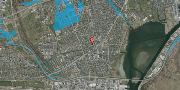 Oversvømmelsesrisiko fra vandløb på Aktæons Alle 34, 2650 Hvidovre