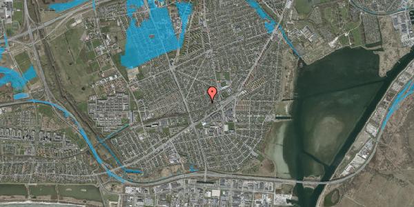 Oversvømmelsesrisiko fra vandløb på Aktæons Alle 38, 2650 Hvidovre