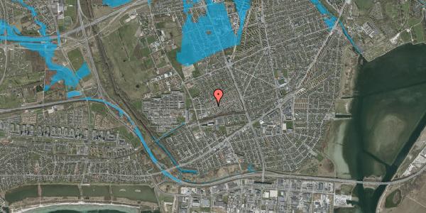 Oversvømmelsesrisiko fra vandløb på Allesøvej 9, 2650 Hvidovre