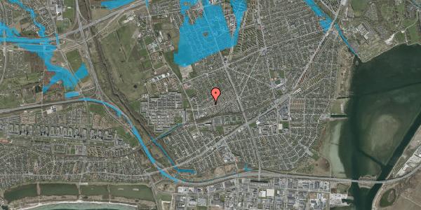 Oversvømmelsesrisiko fra vandløb på Allesøvej 12, 2650 Hvidovre