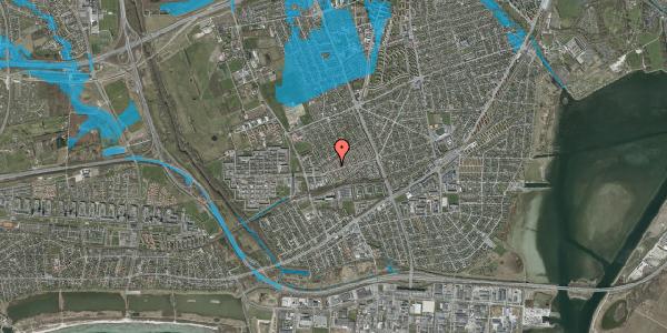 Oversvømmelsesrisiko fra vandløb på Allesøvej 14, 2650 Hvidovre