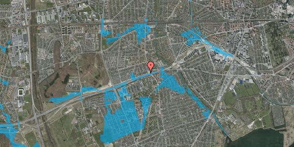 Oversvømmelsesrisiko fra vandløb på Allingvej 8, 2650 Hvidovre