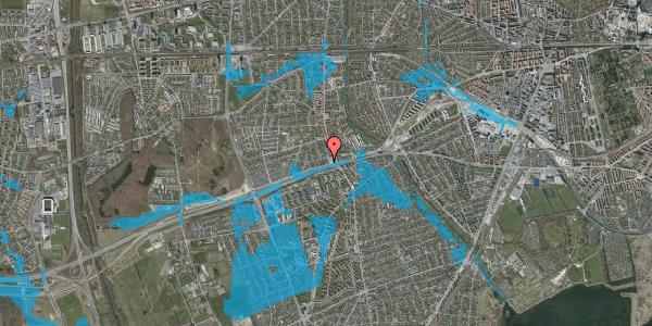 Oversvømmelsesrisiko fra vandløb på Allingvej 10, 2650 Hvidovre