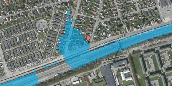 Oversvømmelsesrisiko fra vandløb på Allingvej 42, 2650 Hvidovre