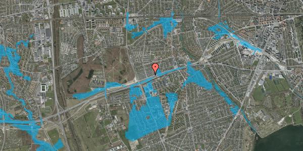 Oversvømmelsesrisiko fra vandløb på Allingvej 64, 2650 Hvidovre