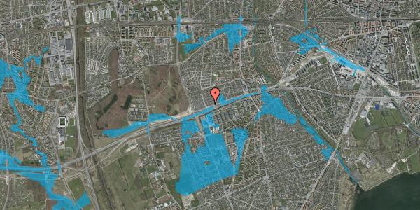 Oversvømmelsesrisiko fra vandløb på Allingvej 70, 2650 Hvidovre