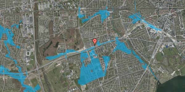 Oversvømmelsesrisiko fra vandløb på Allingvej 74, 2650 Hvidovre