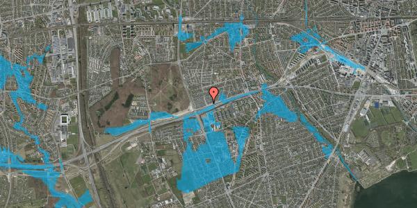 Oversvømmelsesrisiko fra vandløb på Allingvej 76, 2650 Hvidovre