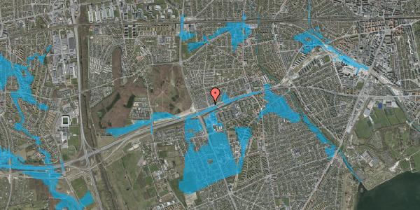 Oversvømmelsesrisiko fra vandløb på Allingvej 78, 2650 Hvidovre