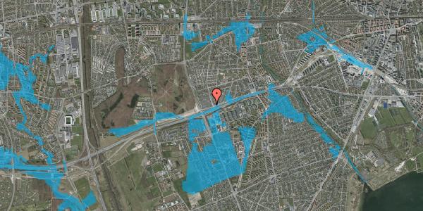 Oversvømmelsesrisiko fra vandløb på Allingvej 82, 2650 Hvidovre