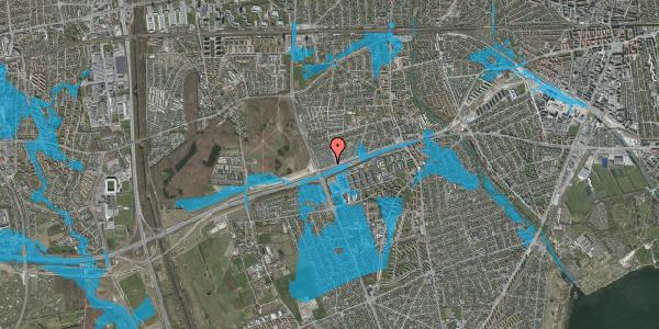 Oversvømmelsesrisiko fra vandløb på Allingvej 90, 2650 Hvidovre
