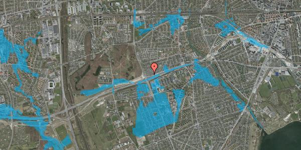 Oversvømmelsesrisiko fra vandløb på Allingvej 92, 2650 Hvidovre