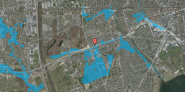 Oversvømmelsesrisiko fra vandløb på Allingvej 94, 2650 Hvidovre