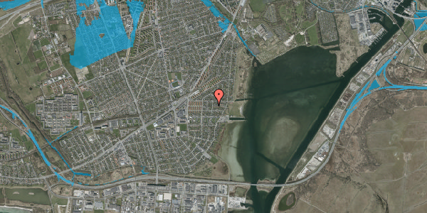Oversvømmelsesrisiko fra vandløb på Ankermandsvej 2, 2650 Hvidovre
