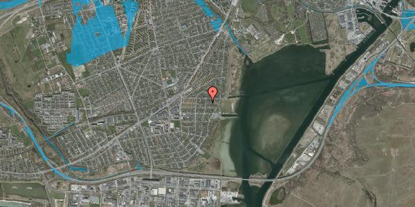 Oversvømmelsesrisiko fra vandløb på Ankermandsvej 6, 2650 Hvidovre