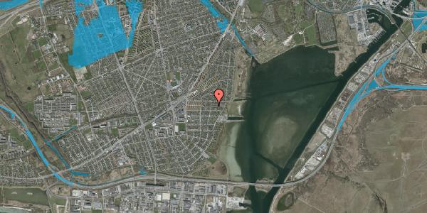 Oversvømmelsesrisiko fra vandløb på Ankermandsvej 8, 2650 Hvidovre