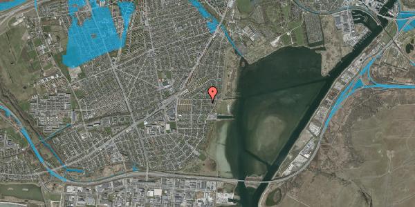 Oversvømmelsesrisiko fra vandløb på Ankermandsvej 11, 2650 Hvidovre