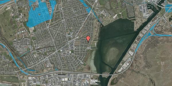 Oversvømmelsesrisiko fra vandløb på Ankermandsvej 18, 2650 Hvidovre