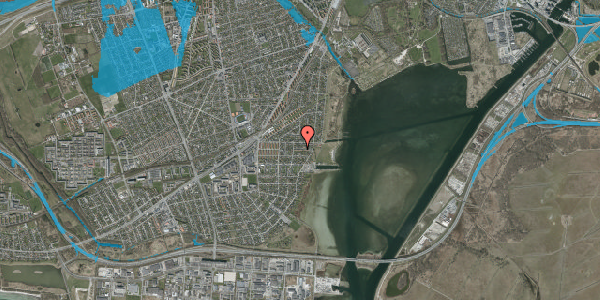 Oversvømmelsesrisiko fra vandløb på Ankermandsvej 20, 2650 Hvidovre