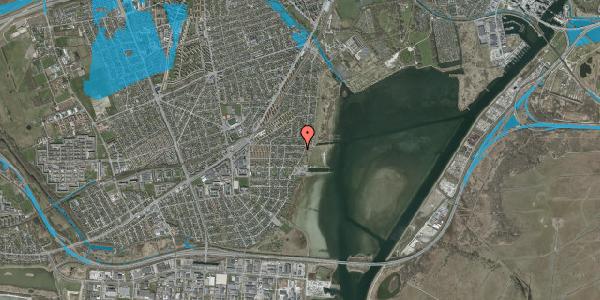 Oversvømmelsesrisiko fra vandløb på Ankermandsvej 27, 2650 Hvidovre