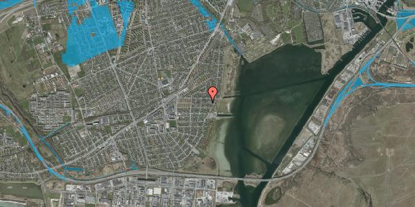 Oversvømmelsesrisiko fra vandløb på Ankermandsvej 28, 2650 Hvidovre