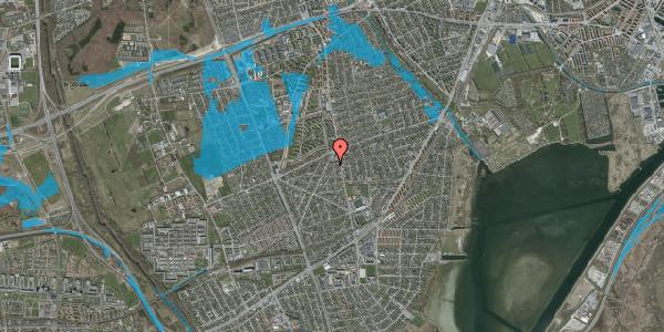 Oversvømmelsesrisiko fra vandløb på Antvorskovvej 5, 2650 Hvidovre