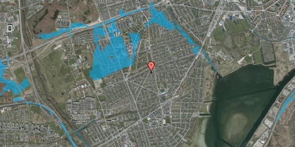 Oversvømmelsesrisiko fra vandløb på Antvorskovvej 9, 2650 Hvidovre