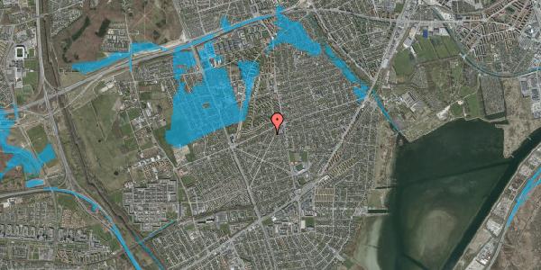 Oversvømmelsesrisiko fra vandløb på Antvorskovvej 11, 2650 Hvidovre