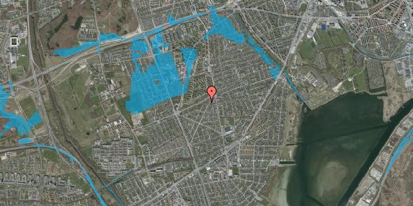 Oversvømmelsesrisiko fra vandløb på Antvorskovvej 12, 2650 Hvidovre