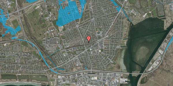 Oversvømmelsesrisiko fra vandløb på Argos Alle 11, 2650 Hvidovre