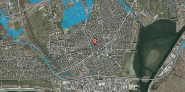 Oversvømmelsesrisiko fra vandløb på Argos Alle 12, 2650 Hvidovre
