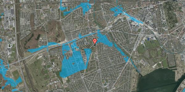 Oversvømmelsesrisiko fra vandløb på Arnold Nielsens Boulevard 1A, 2650 Hvidovre