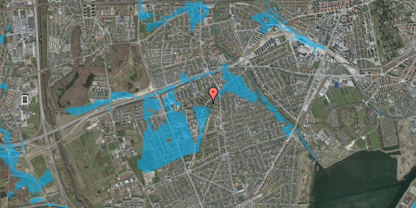 Oversvømmelsesrisiko fra vandløb på Arnold Nielsens Boulevard 1, st. tv, 2650 Hvidovre