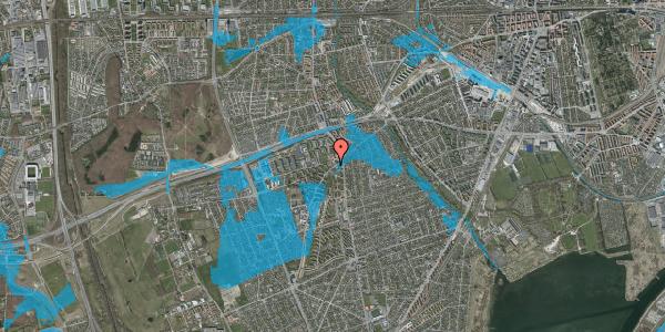 Oversvømmelsesrisiko fra vandløb på Arnold Nielsens Boulevard 2, st. 1, 2650 Hvidovre