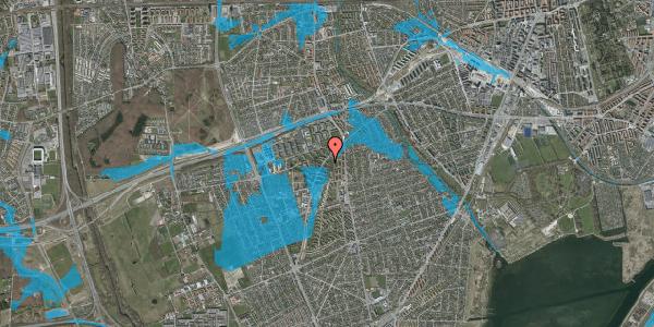 Oversvømmelsesrisiko fra vandløb på Arnold Nielsens Boulevard 3, 2. tv, 2650 Hvidovre