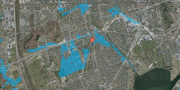 Oversvømmelsesrisiko fra vandløb på Arnold Nielsens Boulevard 4, 3. tv, 2650 Hvidovre