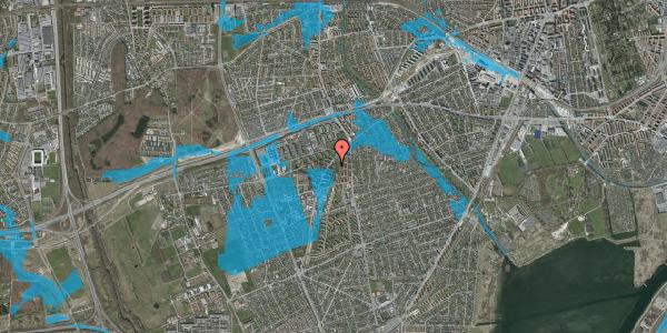 Oversvømmelsesrisiko fra vandløb på Arnold Nielsens Boulevard 5, 2. th, 2650 Hvidovre