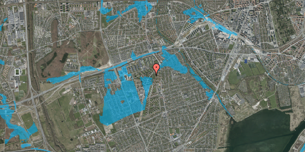 Oversvømmelsesrisiko fra vandløb på Arnold Nielsens Boulevard 5, 2. tv, 2650 Hvidovre