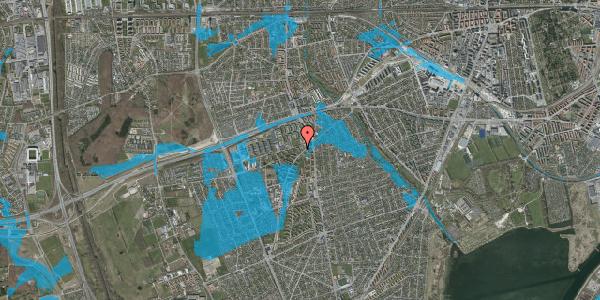 Oversvømmelsesrisiko fra vandløb på Arnold Nielsens Boulevard 6, st. tv, 2650 Hvidovre
