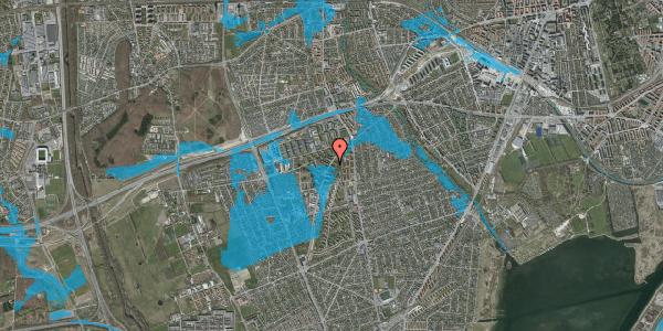 Oversvømmelsesrisiko fra vandløb på Arnold Nielsens Boulevard 7, 2. tv, 2650 Hvidovre
