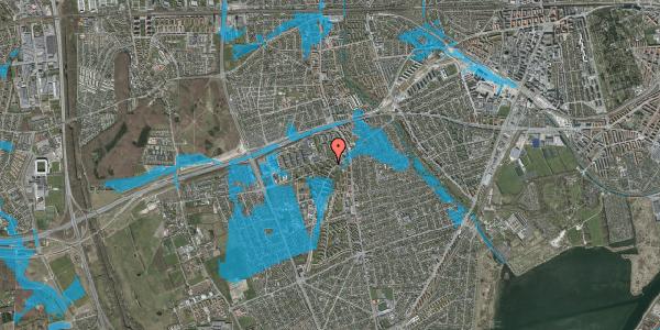 Oversvømmelsesrisiko fra vandløb på Arnold Nielsens Boulevard 8, 2. tv, 2650 Hvidovre