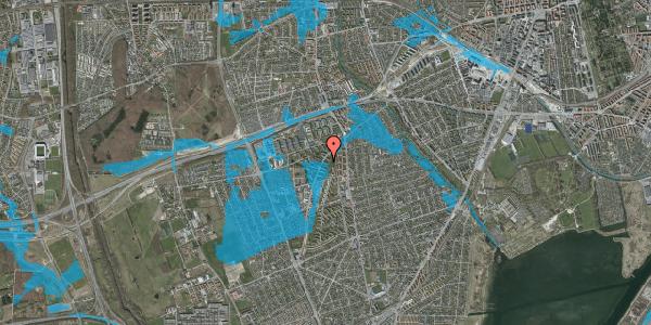 Oversvømmelsesrisiko fra vandløb på Arnold Nielsens Boulevard 9, st. th, 2650 Hvidovre