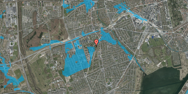 Oversvømmelsesrisiko fra vandløb på Arnold Nielsens Boulevard 9, 2. tv, 2650 Hvidovre