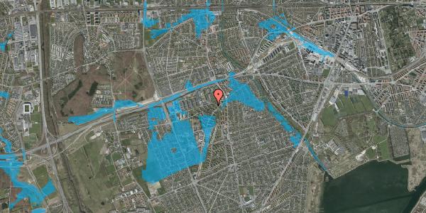 Oversvømmelsesrisiko fra vandløb på Arnold Nielsens Boulevard 10, 2. tv, 2650 Hvidovre