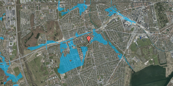 Oversvømmelsesrisiko fra vandløb på Arnold Nielsens Boulevard 10, 3. tv, 2650 Hvidovre